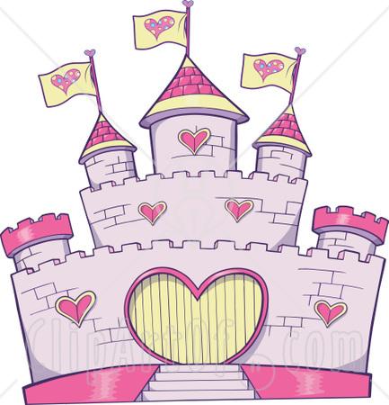Pink Castle Clip Art