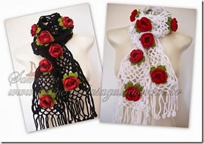 echarpe-blanche-avec-fleurs