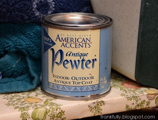 Rustoleum American Accents Antique Pewter topcoat