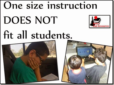 One size fits all instruction does not fit all of our students. Come by Raki's Rad Resources to discover some options to give students the same concepts in a slightly different way that will better meet their specific needs.