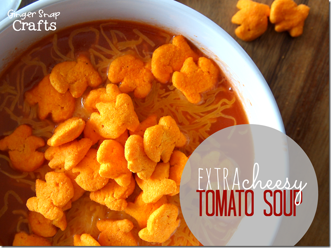 Extra Cheesy Tomato Soup #gingersnapcrafts #makeitgopuff
