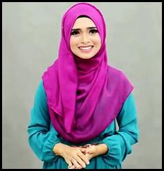 Cara memakai jilbab Modern Simple menutup dada