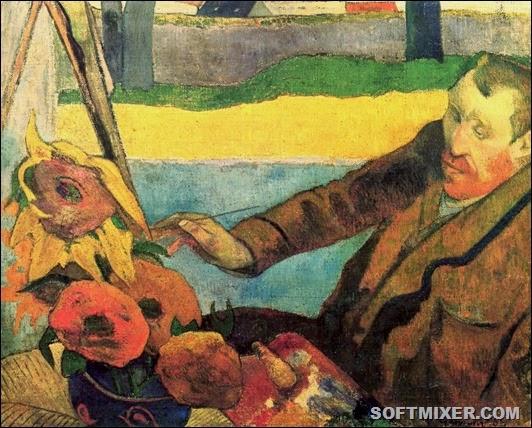 Поль Гоген-Портрет Винсента ван Гога, рисующего подсолнухи