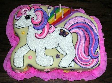 """Nº139: Decoración de fantasía """"My little Pony"""" sobre la base de ..."""
