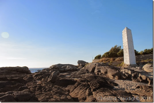 Obelisk am Meer