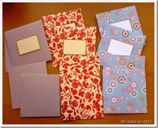 made notelet set