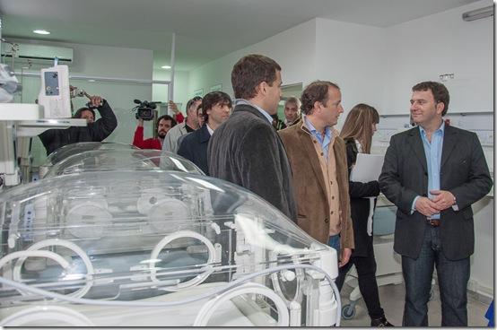 Inauguración del área de pediatría en Mar de Ajó
