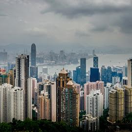 Hongkong City View by Irwan Yuliusmawan - Landscapes Travel ( urban, building, mountain, hongkong, asia, capital city, landscape, country, city )