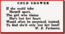 Cold shower poem