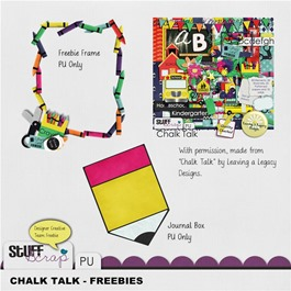 Leaving a Legacy Designs - Chalk Talk - Freebie Preview