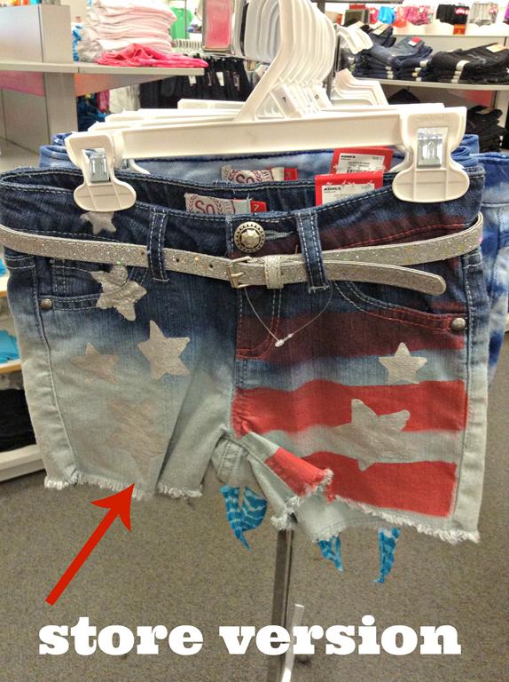 shorts at store