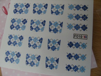 BPS plaid pattern decals