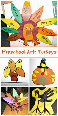 Preschool-Art-Thanksgiving-Turkeys