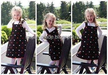 kjole med prikker action