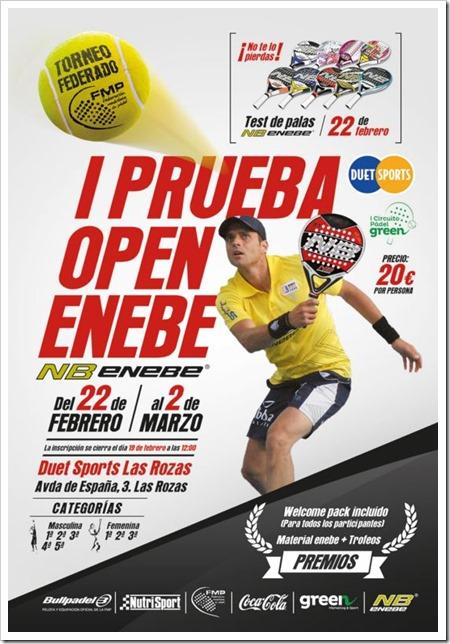 1ª Prueba Circuito Green Open ENEBE Pádel FMP del 22 Febrero al 2 Marzo 2014.