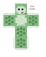 tortuga paper toy