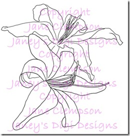 Daylilies Beth - Janey's Digi Designs - Watermarked - Blog