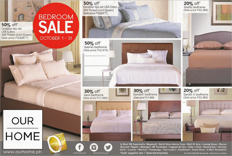 Our Home Bedroom Sale October Catalog
