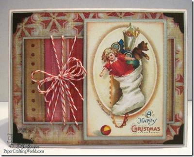 vintage stocking card fv500