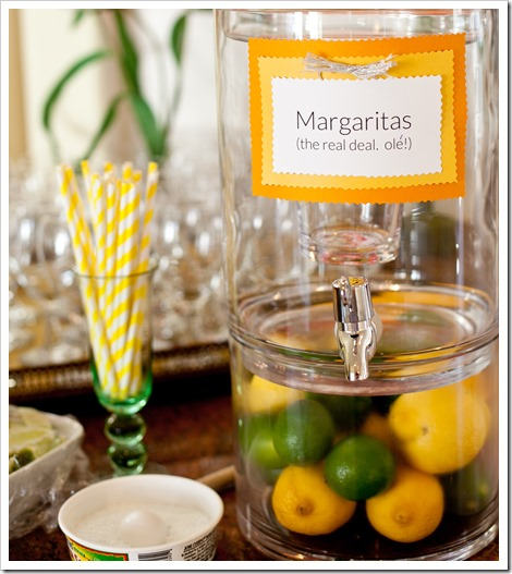margarita cocktail station