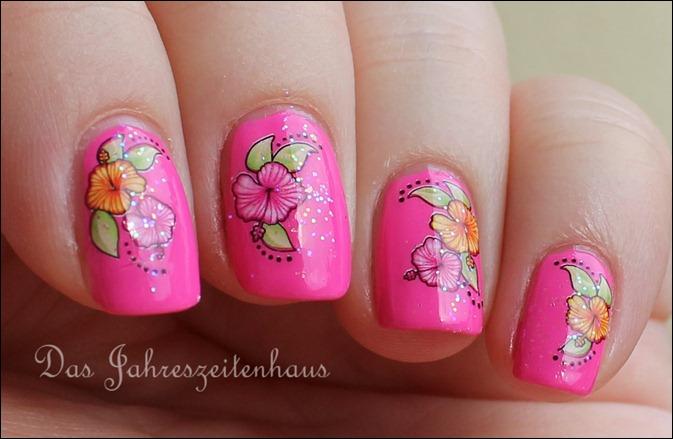 Pinker Hibiskus 3