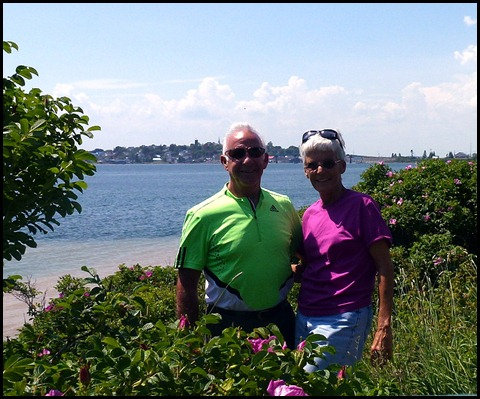 06g - Bill and Nancy amongst the Rosa Rugosa