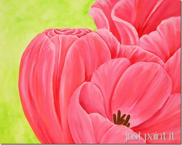 Pink-&-Coral-Tulips
