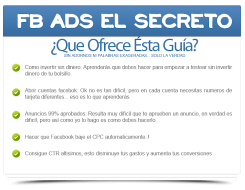 FACEBOOK ADS, EL SECRETO