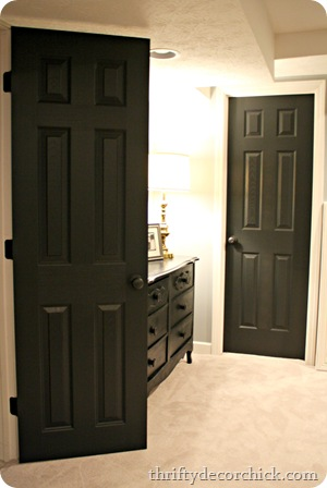 black interior doors black interior doors & Black interior doors (in the basement) from Thrifty Decor Chick