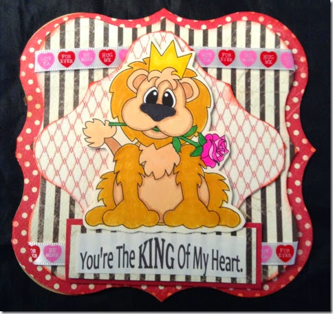 lion king of my heart card by sp-480