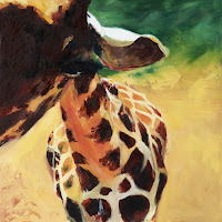 Giraffe. Oil on canvas. 24x24
