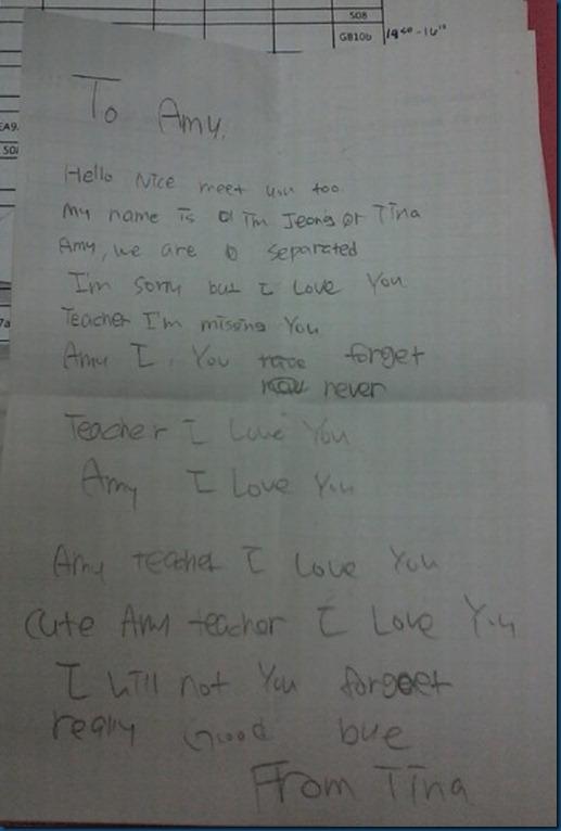 Letter Tina