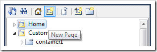 Creating a new page.