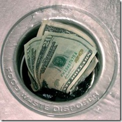 money-down-the-drain
