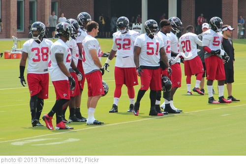'Falcons linebackers' photo (c) 2013, Thomson20192 - license: http://creativecommons.org/licenses/by/2.0/