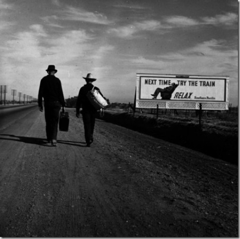 Men Walking Towards Los Angeles