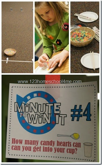 Candy Themed Minute to Win it Games