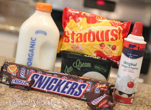 Snickers Starburst Milkshakes