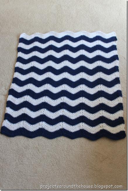 Crochet Chevron Baby Blanket