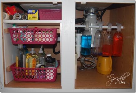 Kitchen Sink Organization A Sprinkle of This . . . . A Dash of That & A Sprinkle of This . . . .: Organize Under the Kitchen Sink