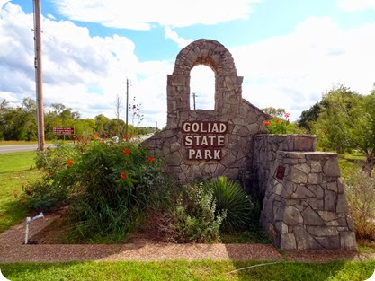 goliad state park sign