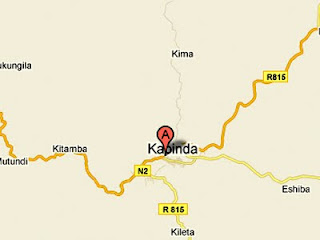 La cite de Kabinda marquée en rouge.