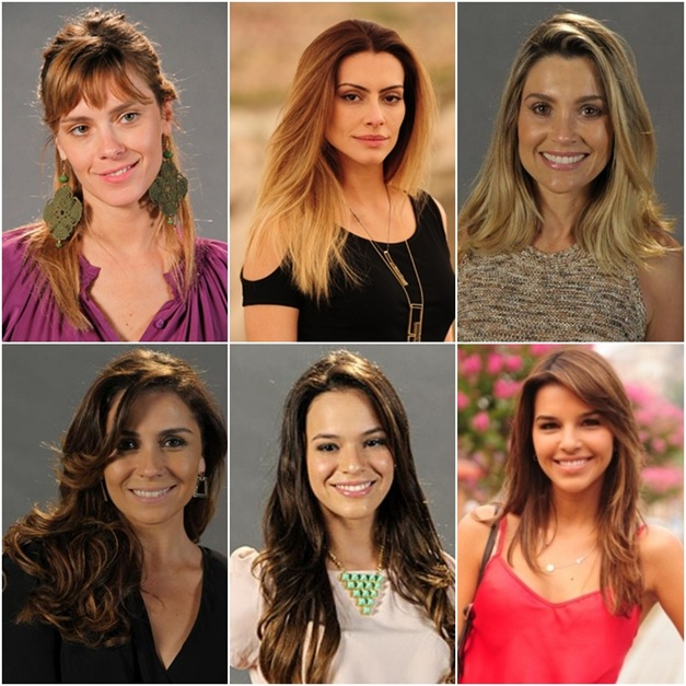 Salve Jorge, cabelos das atrizes