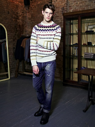Axel Gillot @ Elite London by Duane Nasis  for Topman F/W 2011. Styled by Harry Lambert