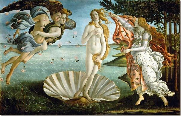 O Nascimento de Vénus, Botticelli 001