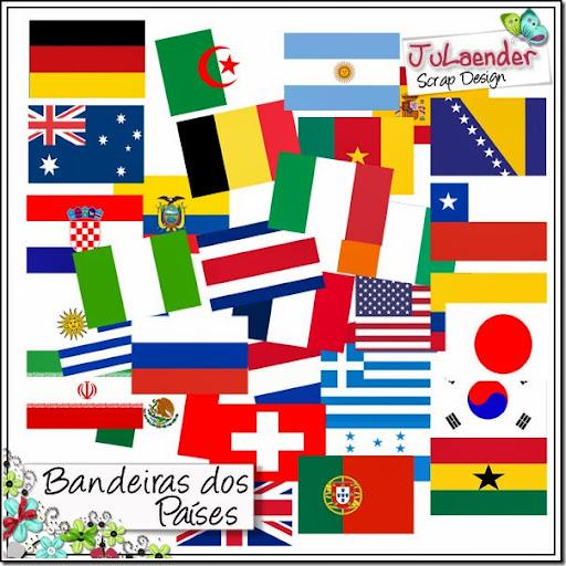 FREEBIE – Copa 2014 – Bandeiras do Países Participantes