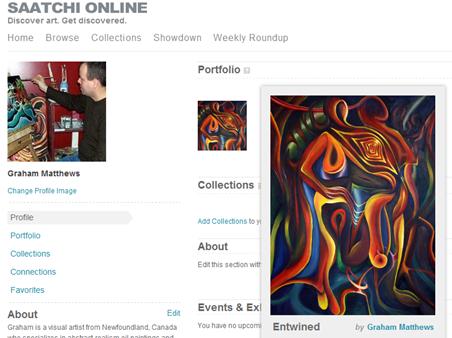 saatchi online portfolio