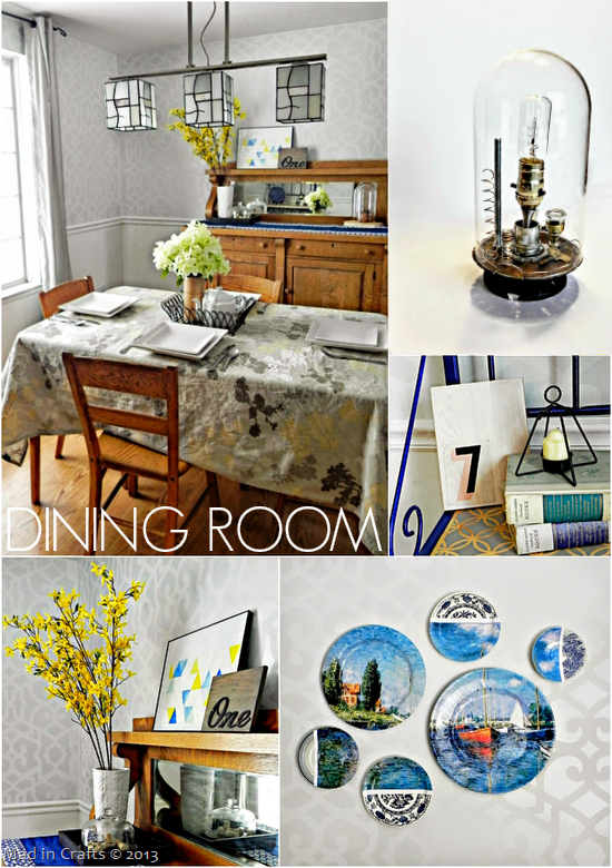Dining Room Makeover - Mad in Crafts