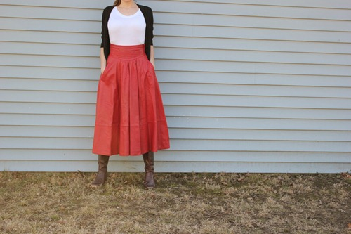 leather skirt refashion