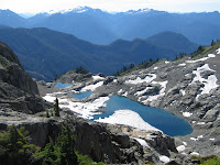 Hidden lakes in Mt Baker Wilderness.